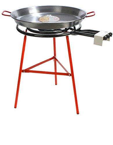Paella, cottura 70 cm-Padella per Paella in acciaio lucidato, 600 mm, bruciatore Suquer Garcima La Ideal-Padella per Paella