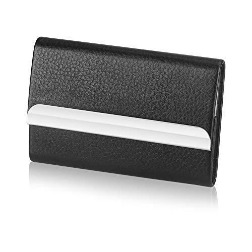 Portatarjetas de visita profesional Hamosky Estuche para tarjetas de visita Portatarjetas de acero inoxidable Guarde las tarjetas de visita