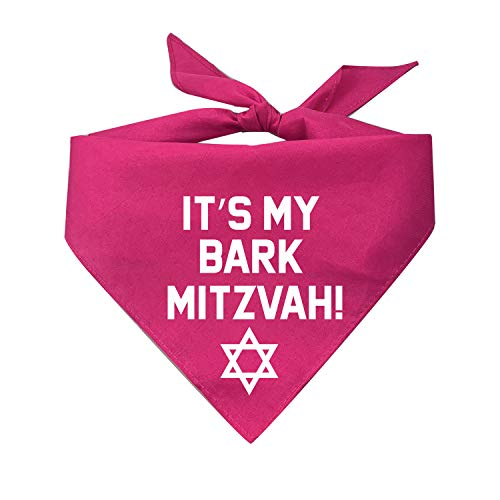 Tees & Tails It's My Bark Mitzvah Triangle Dog Bandana (Assorted Colors)