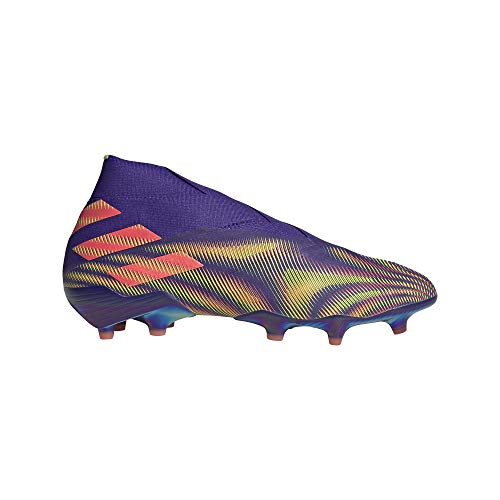adidas Nemeziz 19+ FG, Bota de fútbol, Energy Ink-Signal Pink-Signal Green, Talla 7.5 UK (41 1/3 EU)