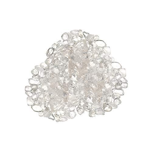 XQK Cristal blanco natural redondeado pulido decoración de cristal piedra cruda accesorio de joyería 7-9mm para adornos, colección, pulsera, collar y almohada