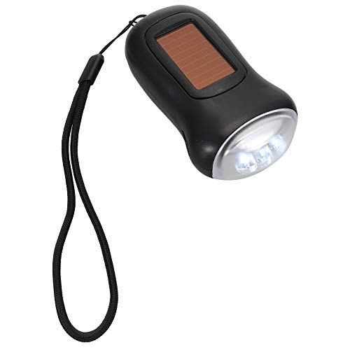 Abaodam Nueva linterna de emergencia mano manivela antorcha luz portátil LED linterna
