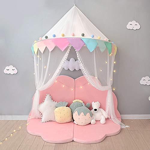 Moustiquaire Bébé Ciel de Lit Baldaquin Rideaux de Lit Tente Enfant Fille Garcon Cadeaux Decoration Chambre BNTE004