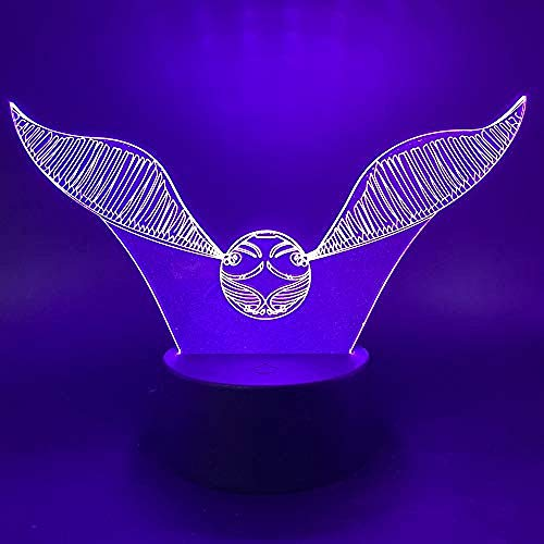 Illusielamp, Led Gradient Touch 7 Kleuren Nachtlampje, 3D Acryl Tafellamp Props Golden Flying Ball Atmosphere Lamp