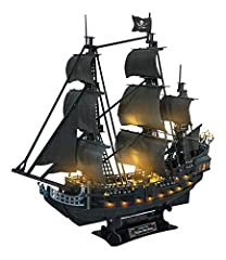 【Realistic Appearance & Scale Model】1/95 scale Queen Anne's Revenge. Built-up Model Size: 26.65 x 10 x 25.2 inches. Assemble your own pirate ship to enjoy a wonderful journey of ancient pirates adventure! 【Lighting Queen Anne's Revenge】Made of paper ...