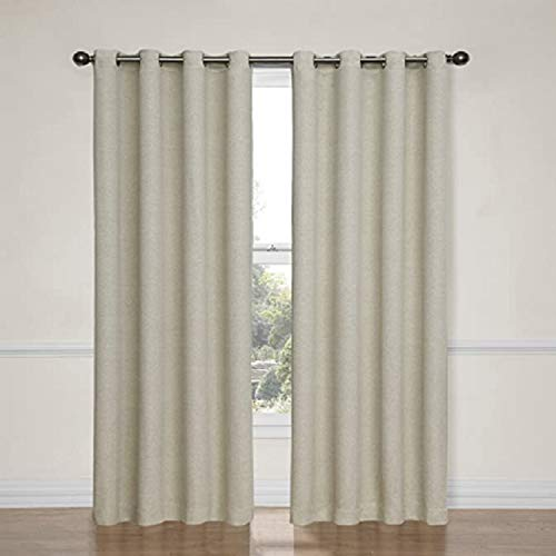 """Eclipse 52"""" x 84"""" Absolute Zero Curtains, 2-Pack (Max Linen)"""