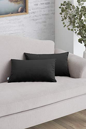 Easycosy - Pack Funda de Cojín Decorativo Luxury para Sofá - 30x50 - Tejido Terciopelo - Ideal para Decorar su sofá - Color Gris.