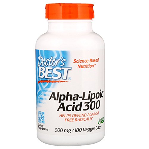 Doctor's Best Alpha Lipoic Acid, 300mg - 180 Vcaps 180 Unidades 140 g