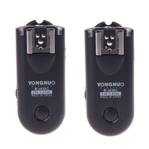 Yongnuo Disparador Remoto inalámbrico, Disparador de Flash RF-603II N1 para Nikon Serie D y similares.