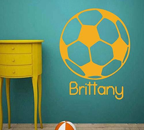 Dalxsh Vinyl Art AbnehmbarerMural Occer Kugel Fußball -Sport -Wand -Aufkleber -Jungen Teen Sports Aufkleber 42X54Cm