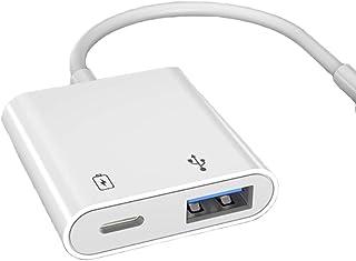 [最新アップグレード版] i Phone OTG カメラアダプタ USB 2In1アダプタ i-Phone/i-Pad専用 アダプタ USB変換 OTG機能 カメラカードリーダー/写真/ビデオ高速な転送 USBメモリ対応 マウスのキーボードに接...