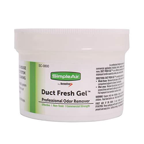 SimpleAir Duct Fesh Gel HVAC Air Freshener, Cleaner, Deodorizer Non Toxic for Odor Block, Small