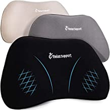 RS1 Back Support Pillow by Relax Support – Lumbar Pillow Upper and Lower Back for Chair Back Pain Uses ArcContour Special Patented Technology Has Unique Lateral Convex Shape for a Pain Free Back