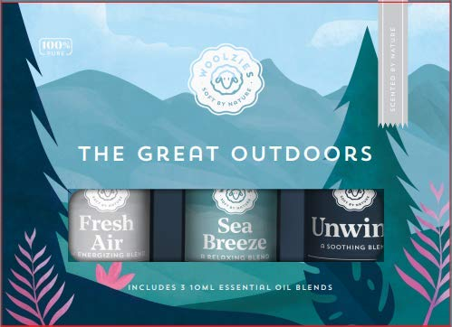 Woolzies The Great Outdoors Essential Oil Collection | Includes Fresh Air, Sea Breeze & Unwind | Fresh, Sharp, Clean Scent | Aromatherapy Therapeutic Grade Oil | For Diffuse & Topical Use | 10 ML