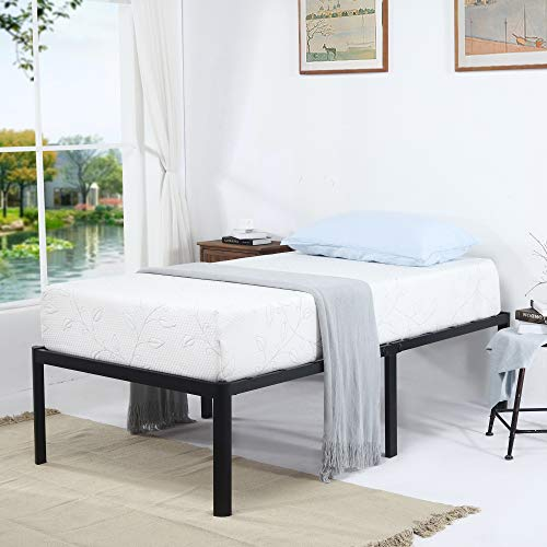 V&LX 18 Inch Tall V1406 UP-Support Deluxe Metal Slat Bed Frame (Twin)