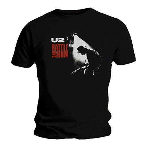 U2 - Camiseta - para Hombre Negro Negro (XL