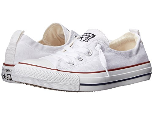 Converse Women Shoreline Slip on Sneaker Optical White, 8