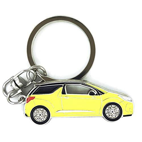 3dcrafter Porte-clés Citroën DS3 - Cadeau pour homme ou femme, jaune, S