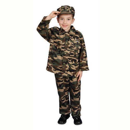 Dress Up America Deluxe leger soldaat kostuum set voor kinderen