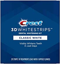 Crest 3D Whitestrips Classic White Teeth Whitening Kit, 10 Treatments 20 Strips