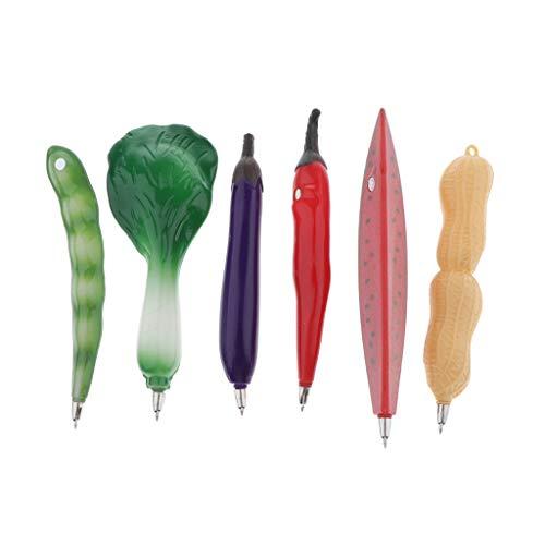 joyMerit 6x Bolígrafo de Frutas Vegetales Novedad Bal LPen para Refrigerador Imán de Nevera