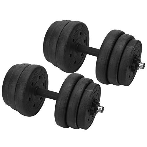 Deryang 25 kg Hantel, solide rutschfeste Fitness-Hantel, Fitnessstudio für Fitnessgeräte Sportgeräte Muskeltraining