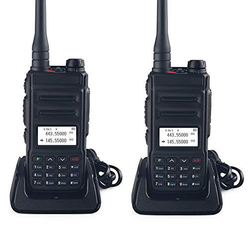 Profesionales Walkie Talkie USB Recargable 4000 mAh,con Linterna,Walky Radiocomunicación,con Carga Tipo USB Pinganillos Antena Clip,Adecuado para Actividades Militares