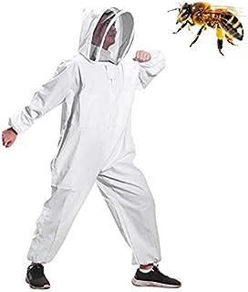 Moontay Baumwoll-Ganzkörper-Kleidung, mit Schleier, Kapuze, Handschuhe, Mütze, Schutz für Imker und Imker MEHRWEG