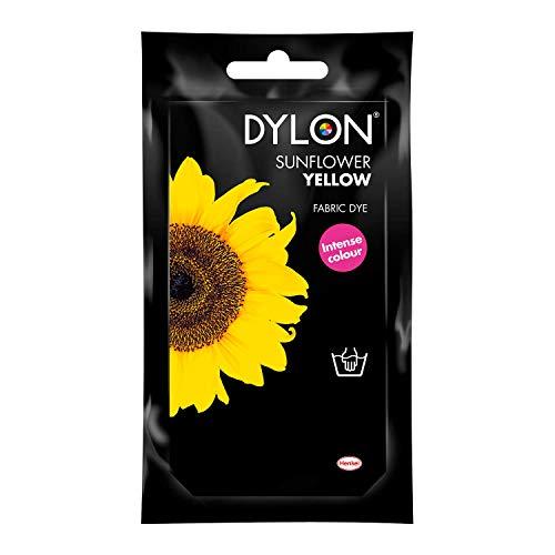 Dylon,Tinta in Polvere, Blu Bahama, Sunflower Yellow, 10x14x7.8 cm