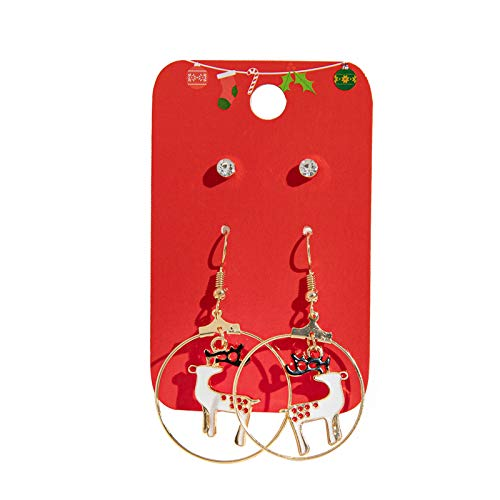 BBQQ 1 Satz Frauen Mädchen Weihnachten Ohr Ohrstecker Drop Dangle Ohrringe Party Dekoration, Weihnachtsdekorationen Clearance Baum Ornamente Rock Topper Lichter Pyjamas für die Familie