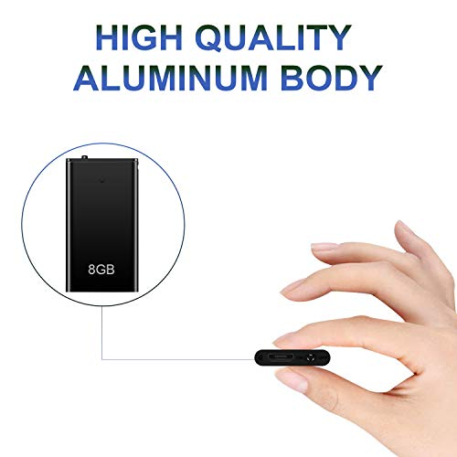 Voice Recorder, TDW Mini Voice Activated Recorders 8GB/16GB with MP3 Player USB Ultra Small Audio Recorder with Playback for Speech, Lectures, Meetings (q1 8G)