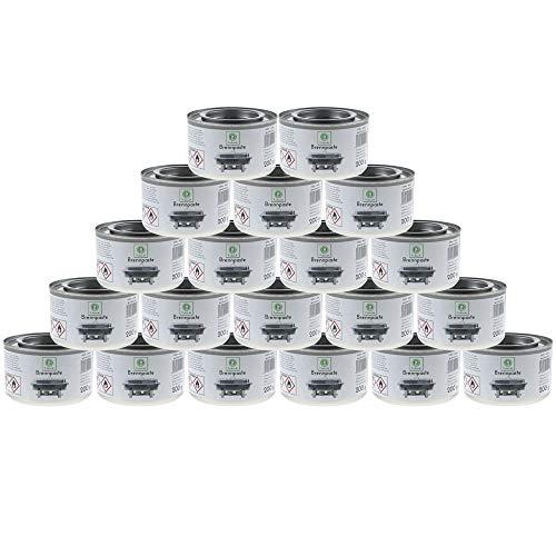 Brennpaste 20 x Sicherheitsbrennpaste x200g Chafing Dish Warmhaltebehälter