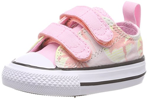 Converse Chuck Taylor CTAS 2v Ox Cotton, Chaussures de Fitness Mixte Enfant, Vert (Barely Green/Cherry Blossom 315), 24 EU