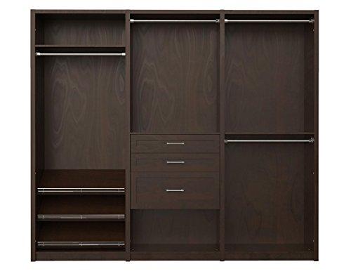 "ClosetMaid 6109440 SpaceCreations 96"" Wood Closet Organizer Kit, Premier Dark Java"