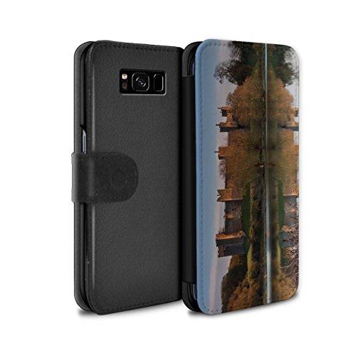 Stuff4 Telefoonhoesje Portemonnee voor Samsung Galaxy S8 Plus/G955 Kasteel Fort Lake Design Flip Faux PU Lederen Cover