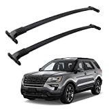 Richeer Roof Rack Cross Bars for 2016-2019 Explorer with Side Rails,Cargo Racks Rooftop Luggage Canoe Kayak Bicycle roof Bag
