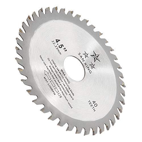 Lame de Scie Circulaire 115mm avec 40 Dents, Disque Meuleuse 115mm pour Coupe de Bois, Disque a Tronconner le Bois pour Meuleuse d'angle, Diamètre Intérieur 22.2mm (Style 1)
