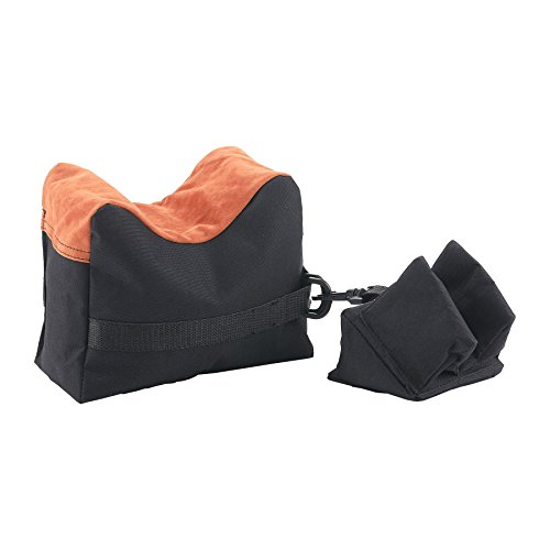 HIRAM Front Rear SandBag Shooting Rest Support Bags Stand Holders for Rifle (Black)