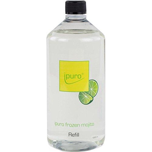 iPuro Nachfüllflasche FROZEN MOJITO 1000ml, inklusive 5 Original Duftstäbchen