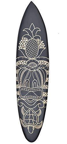 Interlifestyle Tiki Tabla de Surf 100cm con Tortuga Motivo Decoración Tabla de Surf Aus Madera Dura