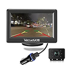top 10 veclesus backup camera Digital wireless backup camera kit 4.3 inch wireless LCD car monitor, excellent night vision …