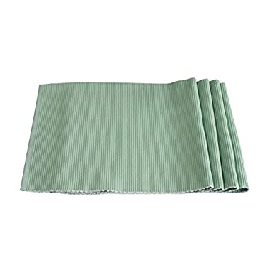 Best Token 4-piece 12 x18  Placemats Kitchen Decoration Absorption Coasters Dining Table Mats Pad Heat-resistant (green)
