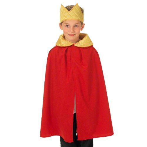 Charlie Crow Déguisement Roi / Reine pour Les Enfants. Rouge. Taille Unique 3-9 Ans.