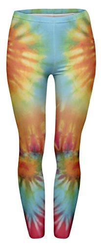 Fringoo Yoga-Leggings für Damen, enganliegend Gr. One size , Batik