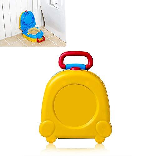 TERMALY Voiture de Camping, Toilette Pliante Mobile, Toilette Portable, Conception de la Courbe du Corps Humain, Grande capacité, Toilette Portable pour bébé de 8 Mois à 5 Ans,A