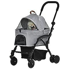 Pawhut 2-in-1 Transporttasche Katzenbuggy mit