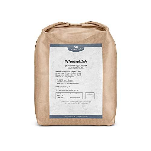 Krauterie Meerrettich in hochwertiger Qualität, frei von jeglichen Zusätzen, für Pferde und Hunde (Armoracia rusticana) – 1000 g