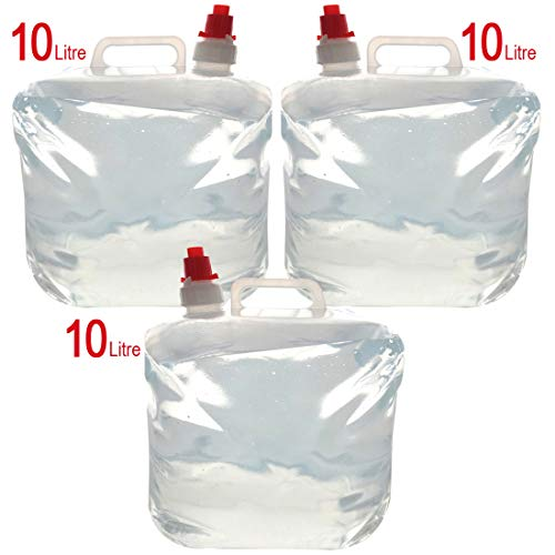 Schone Products (UK) - Portabagno Pieghevole per Camper e roulotte, 10 l, Riutilizzabile, Pieghevole, per Acqua Potabile, con ugello on/off