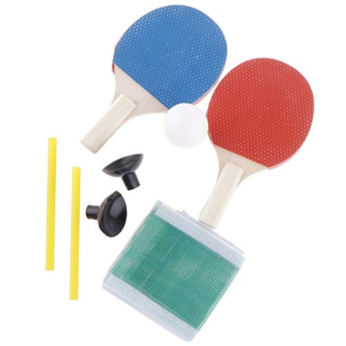 PPCAK 1 par Mini Mesa Ping Ping Pong Rack Pong Bolas de murciélago Set de Red +1 x Ball