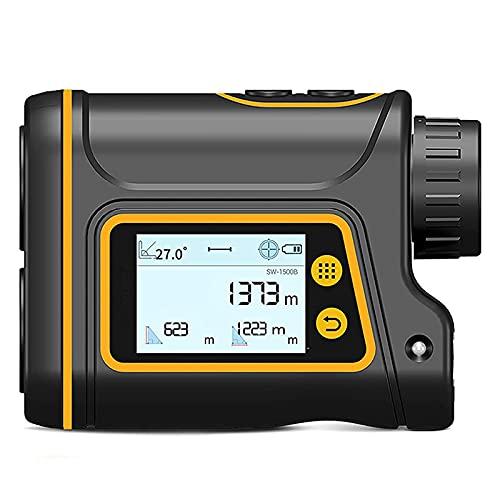 Telémetro láser Recargable de Alta definición para Caza y Golf Telémetro portátil con Pantalla táctil Digital Telémetro 800 1000   1500M Telémetro, 6 + 5% de Aumento X, 800 m